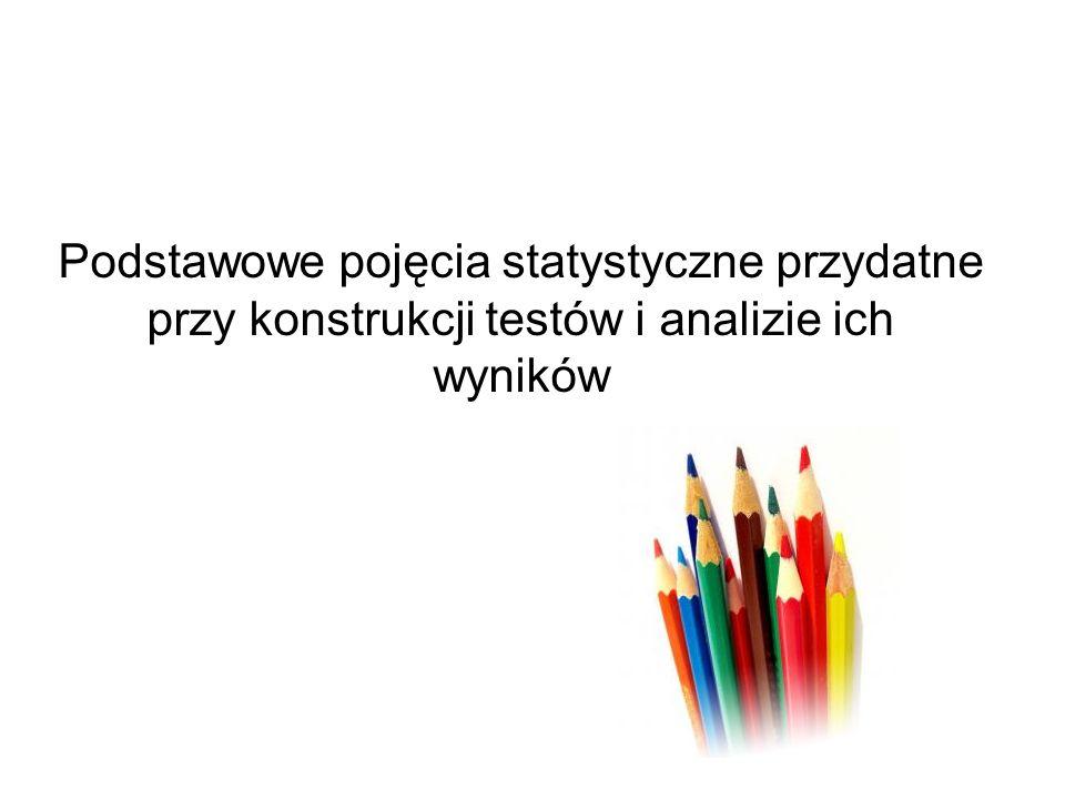 Metody określania rzetelności wyniku testu Dwukrotne testowanie –Korelacja między wynikami dwóch testów Metoda połówkowa –Korelacja między wynikami dwóch połówek Wewnętrzna spójność testu –Wsp.