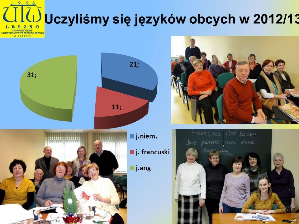 Akademia e-Seniora (zajęcia komputerowe i nie tylko) W pierwszym semestrze 2012/13 w grupie początkującej było 42 osoby, Warsztaty z edytora tekstów odbywały się w I semestrze a warsztaty dziennikarskie w drugim