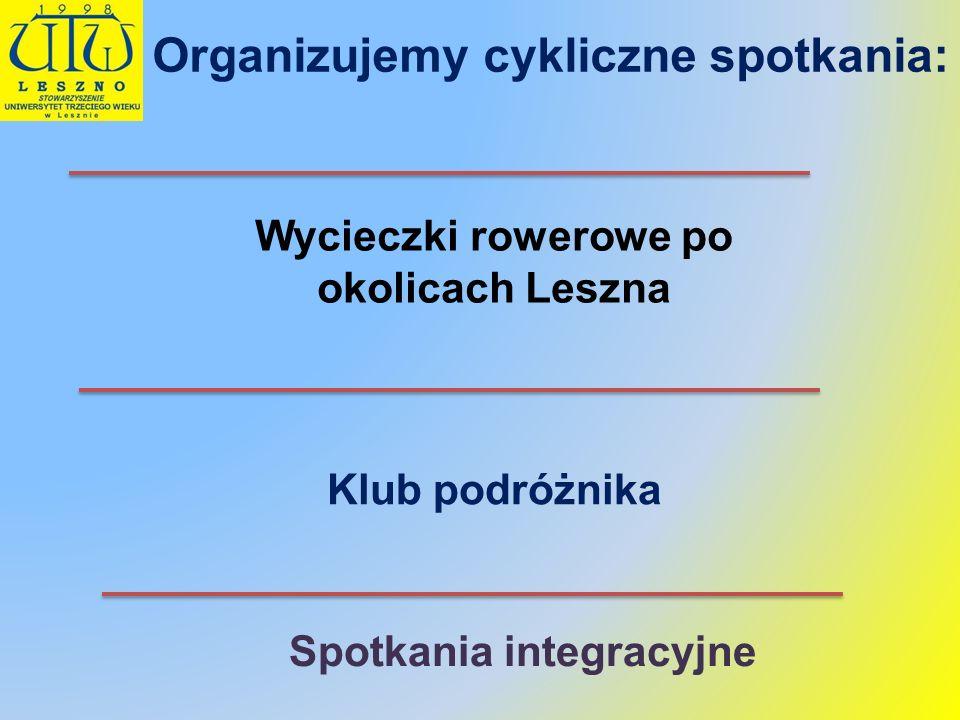 W Telewizji Leszno Zakończenie roku w Rydzynie Wycieczka rowerowa Zakończenie II Wielkopolskiego marszu z kijkami