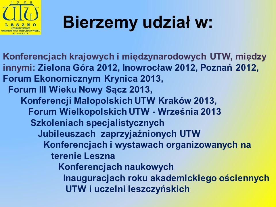 Prosimy wszystkich członków UTW o aktualizację adresów (również e-mailowych) i numerów telefonów