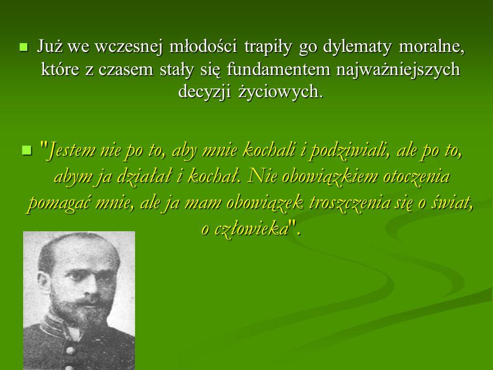 Janusz Korczak zginął wraz ze swymi wychowankami wywieziony z getta w 1942, dobrowolnie towarzysząc im w drodze na śmierć w komorze gazowej w obozie zagłady Treblinka.