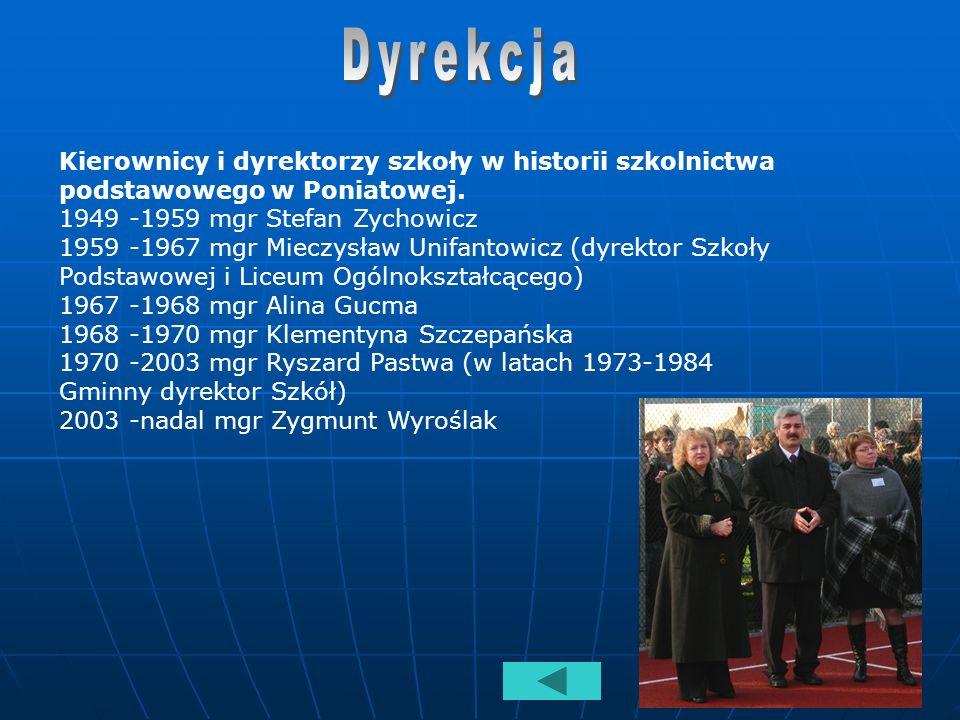 Tradycja Szkoły Podstawowej im. Stefana Żeromskiego w Poniatowej stały się coroczne konkursy o patronie organizowane przez bibliotekę szkolną, oraz ur