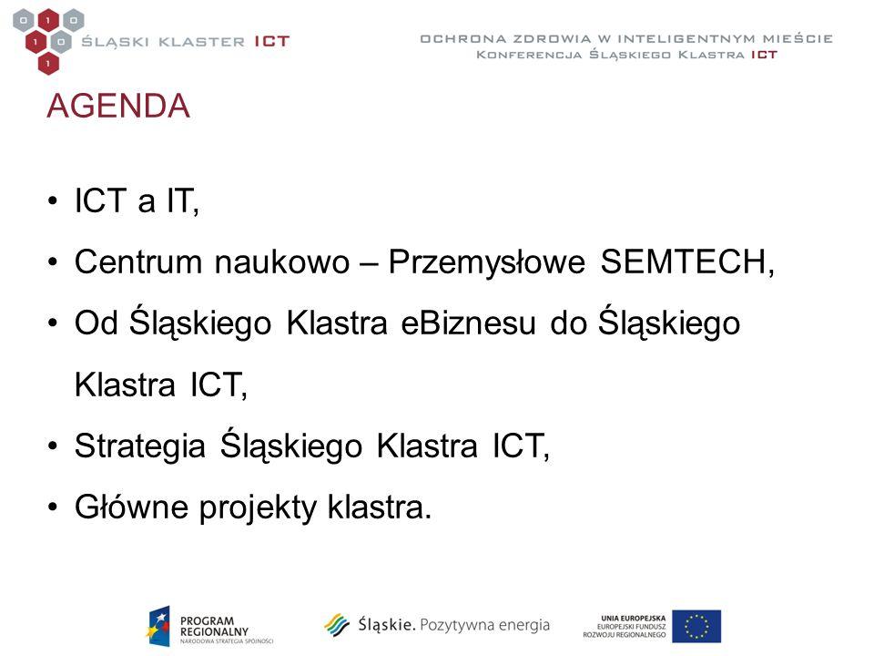 AGENDA ICT a IT, Centrum naukowo – Przemysłowe SEMTECH, Od Śląskiego Klastra eBiznesu do Śląskiego Klastra ICT, Strategia Śląskiego Klastra ICT, Główn