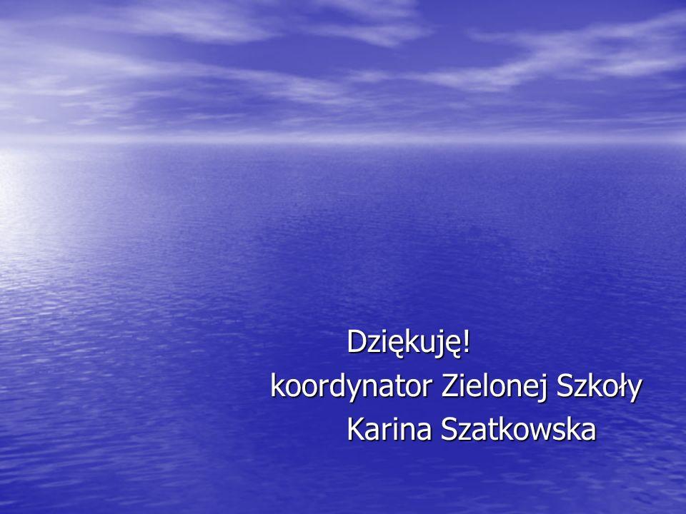 Dziękuję! Dziękuję! koordynator Zielonej Szkoły koordynator Zielonej Szkoły Karina Szatkowska Karina Szatkowska