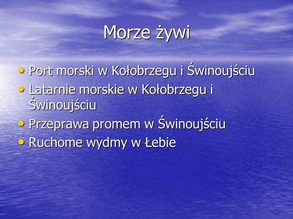 Morze żywi Port morski w Kołobrzegu i Świnoujściu Port morski w Kołobrzegu i Świnoujściu Latarnie morskie w Kołobrzegu i Świnoujściu Latarnie morskie