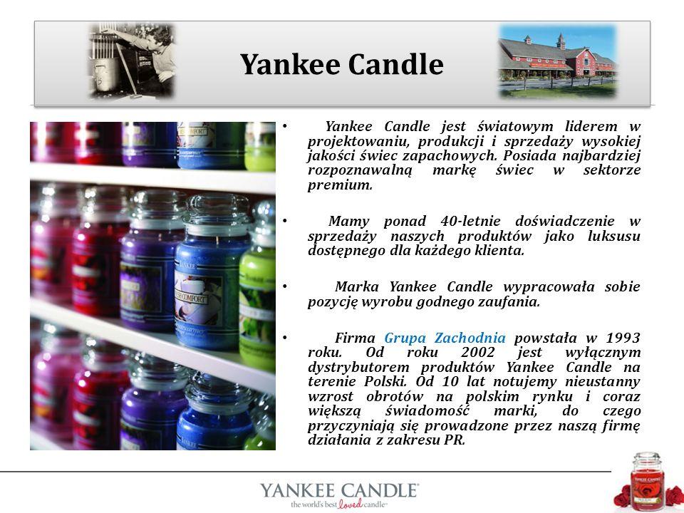 Yankee Candle jest światowym liderem w projektowaniu, produkcji i sprzedaży wysokiej jakości świec zapachowych.
