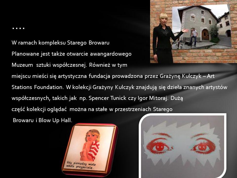 Grażyna Kulczyk jest także aktywnym sponsorem działań artystycznych i kolekcjonerką sztuki. Realizuje duże inwestycje kulturalne i biznesowo- kultural