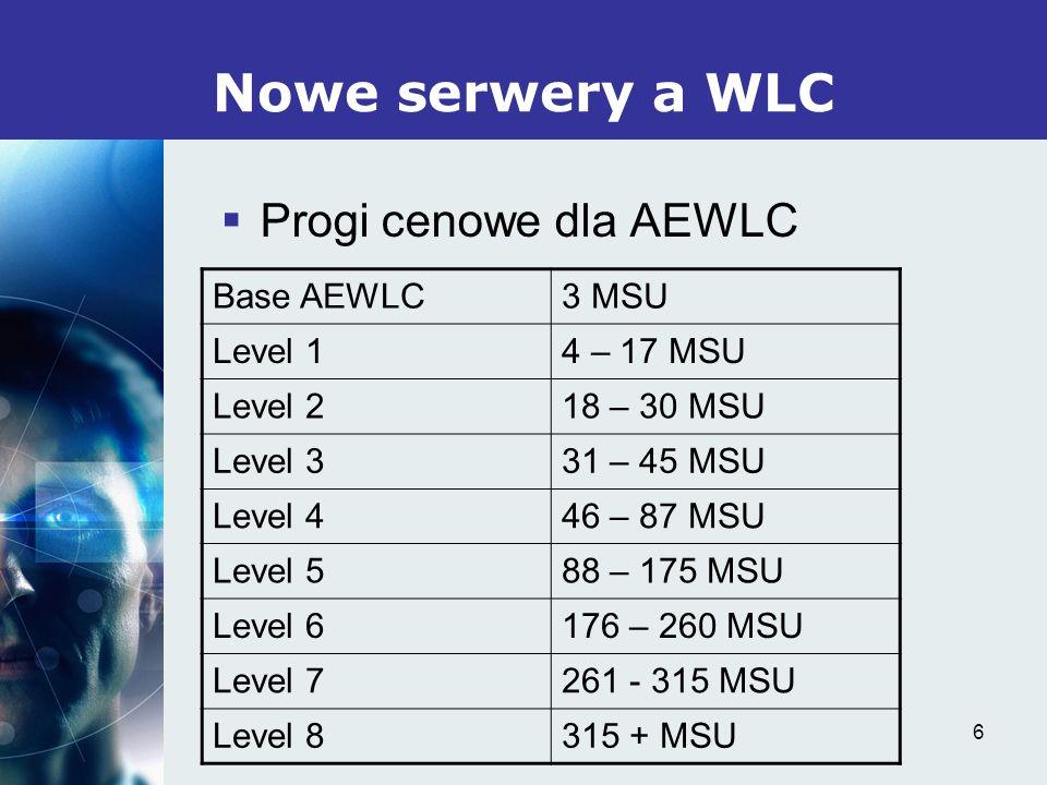 7 Nowe serwery a WLC