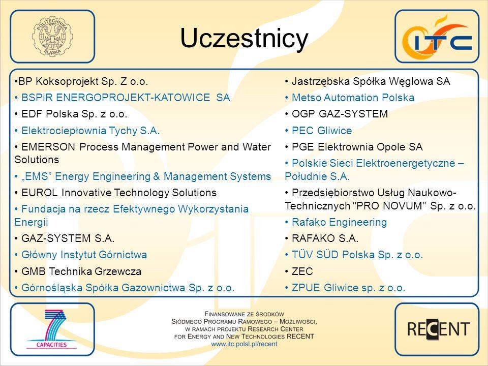 Jastrzębska Spółka Węglowa SA Metso Automation Polska OGP GAZ-SYSTEM PEC Gliwice PGE Elektrownia Opole SA Polskie Sieci Elektroenergetyczne – Południe