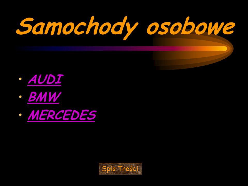 Samochody osobowe AUDI BMW MERCEDES Spis Treści