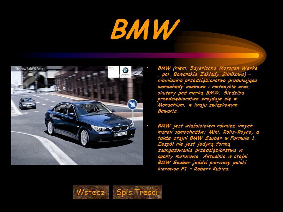 BMW BMW (niem.Bayerische Motoren Werke, pol.