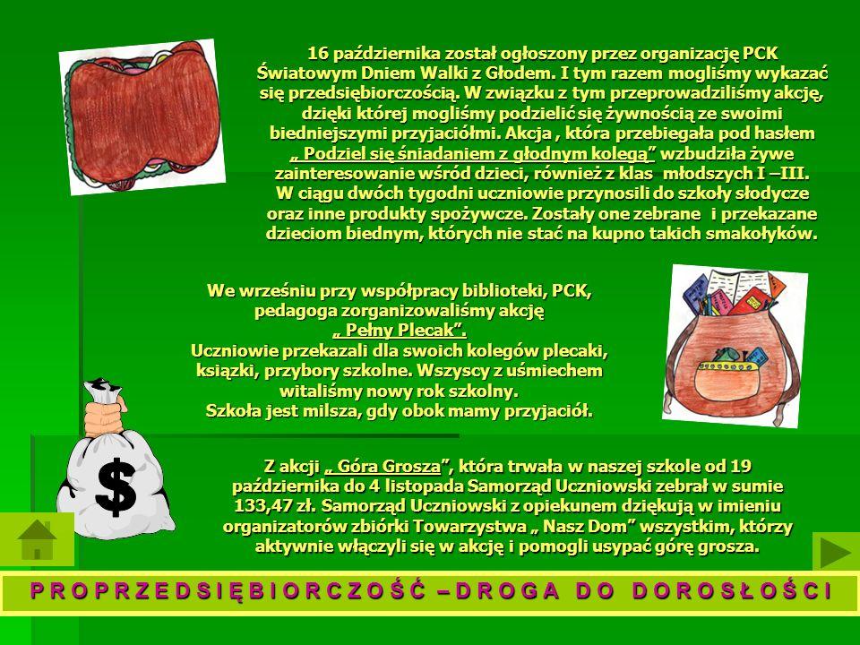 16 października został ogłoszony przez organizację PCK Światowym Dniem Walki z Głodem.