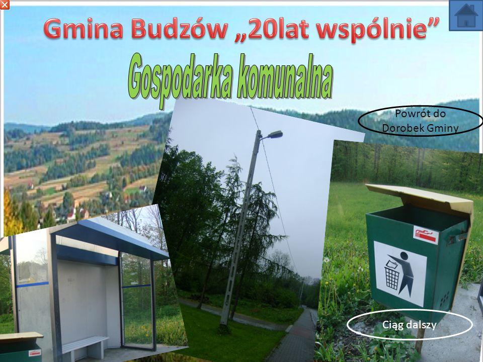 W ciągu 20 lat zamontowano 420 punktów świetlnych we wszystkich sołectwach Gminy Budzów.