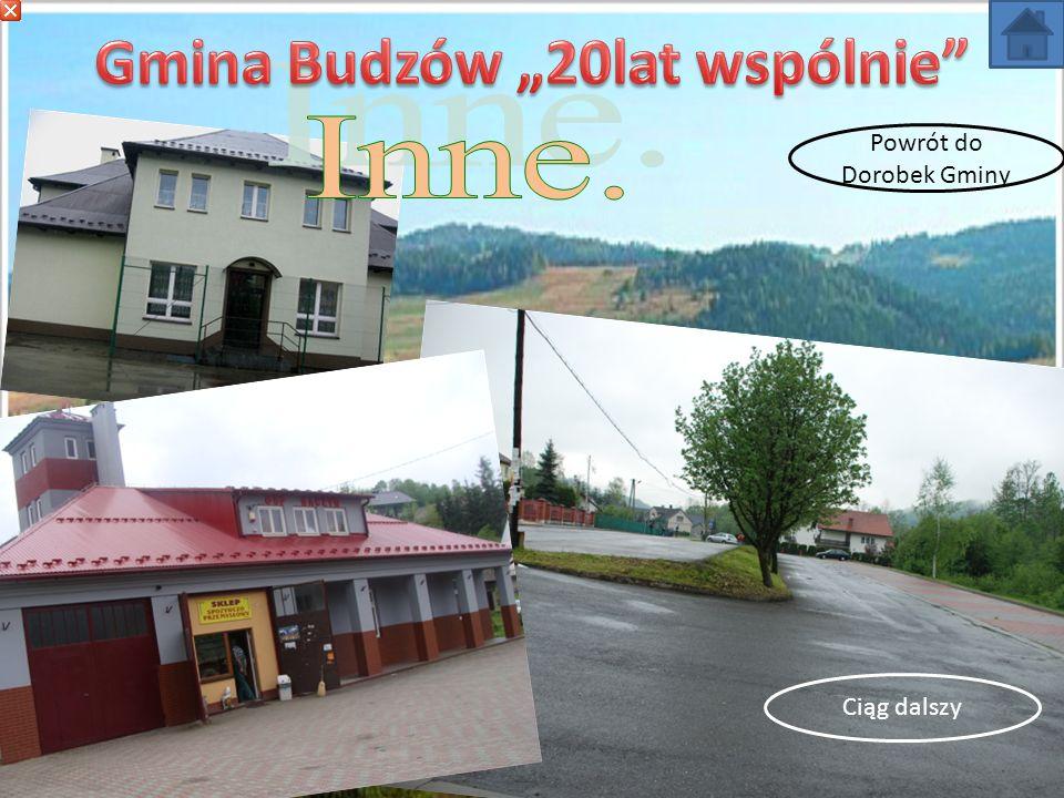 W ciągu 20 lat Gmina nabyła; 4,9173ha gruntów z przeznaczeniem pod budowę szkoły, wodociągu i oczyszczalni, budynki i grunty Ośrodka Zdrowia w Budzowie i w Bieńkówce, gruntu pod boisko sportowe w Budzowie, w Bieńkówce i pod boisko ORLIK 2012 w Baczynie, część budynku po byłym SKR w Budzowie (nieodpłatnie), parking przy kościele parafialnym w Jachówce i w Budzowie, grunty pod zatoki autobusowe w Baczynie, Bieńkówce i Budzowie.