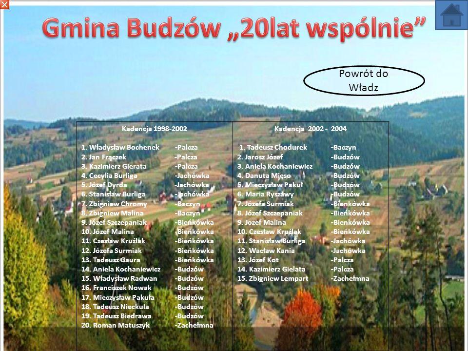 Kadencja – 1990 – 1994 1.Tadeusz Gaura -Bieńkówka 2.Józef Szczepaniak-Bieńkówka 3.Stanisław Pająk -Bieńkówka 4.