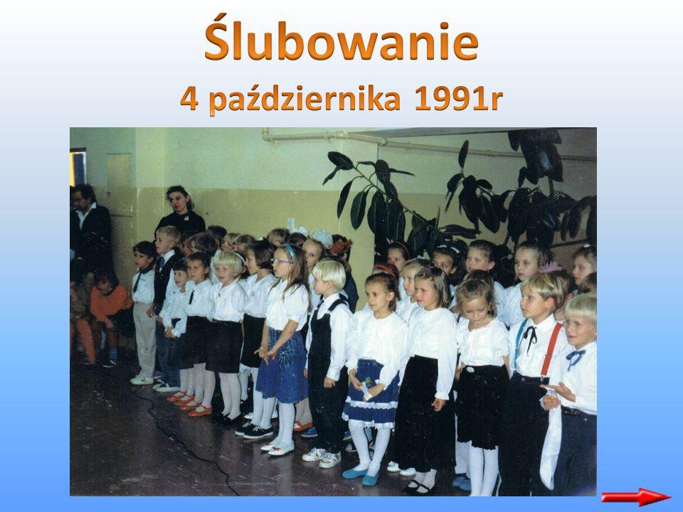 Jako pierwszy w tej szkole został oddany do użytku pawilon A, do którego weszły klasy I - III z dniem 1 września 1991 roku. Pierwsze ślubowanie obchod