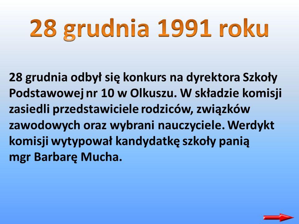 28 grudnia odbył się konkurs na dyrektora Szkoły Podstawowej nr 10 w Olkuszu.