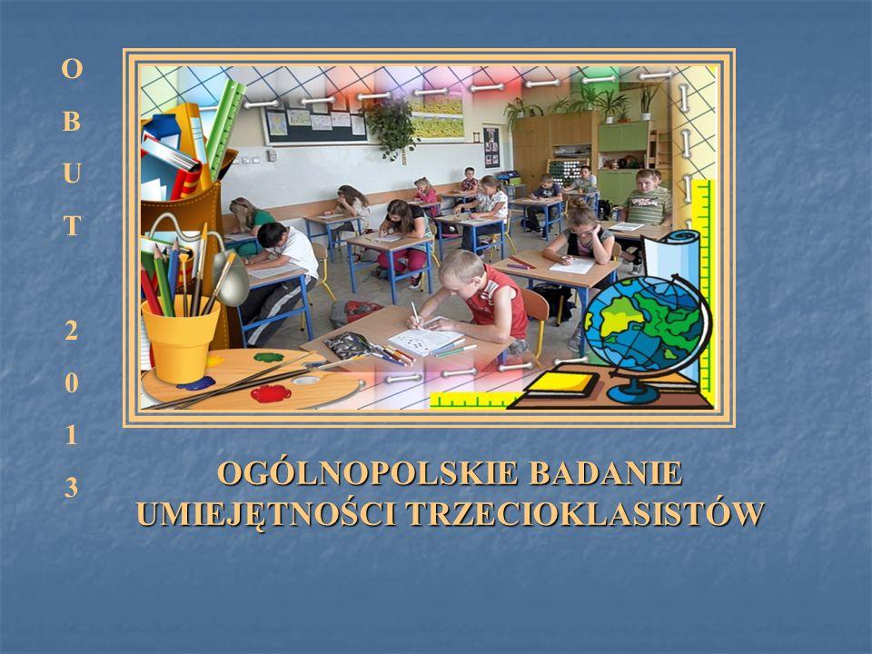 21 maja 2013 roku odbyła się III edycja powszechnego i dobrowolnego Ogólnopolskiego badania umiejętności trzecioklasistów 2013.