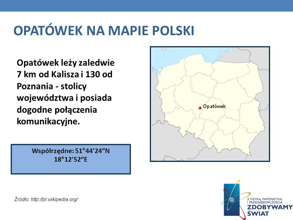 Opatówek leży zaledwie 7 km od Kalisza i 130 od Poznania - stolicy województwa i posiada dogodne połączenia komunikacyjne. OPATÓWEK NA MAPIE POLSKI Ws