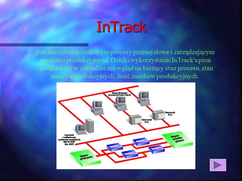 InTrack Jest narzędziem śledzącym procesy przemysłowe i zarządzającym zasobami produkcyjnymi.