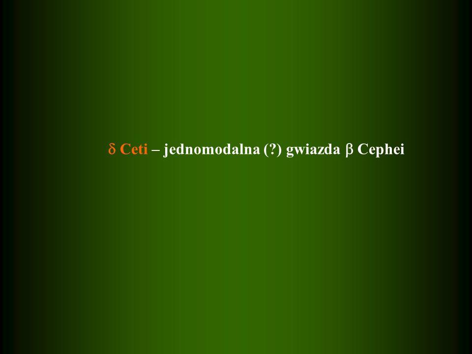 Ceti – jednomodalna (?) gwiazda Cephei