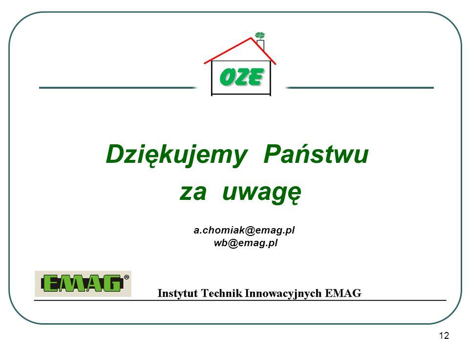 12 Dziękujemy Państwu za uwagę a.chomiak@emag.pl wb@emag.pl