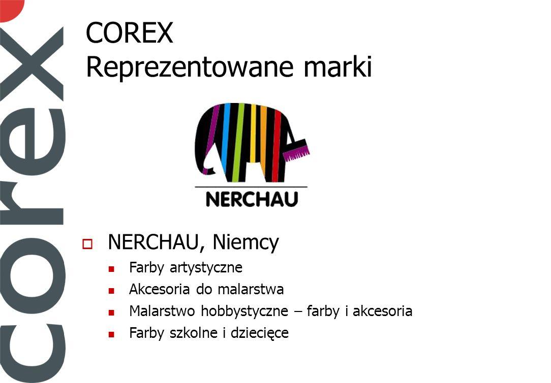 COREX Reprezentowane marki NERCHAU, Niemcy Farby artystyczne Akcesoria do malarstwa Malarstwo hobbystyczne – farby i akcesoria Farby szkolne i dziecięce
