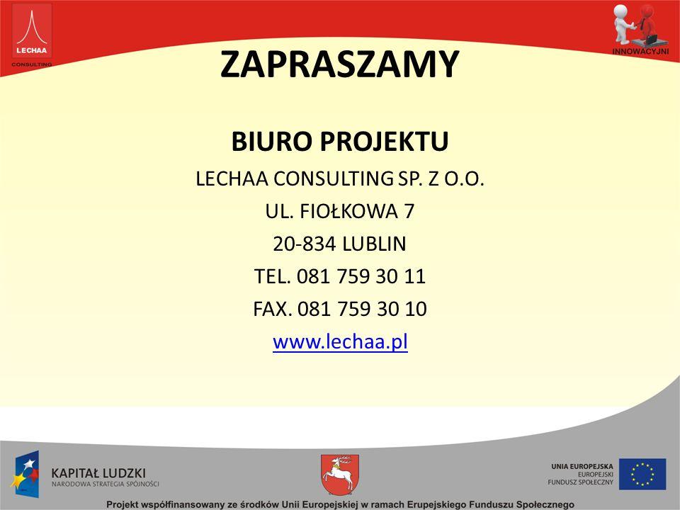 ZAPRASZAMY BIURO PROJEKTU LECHAA CONSULTING SP.Z O.O.