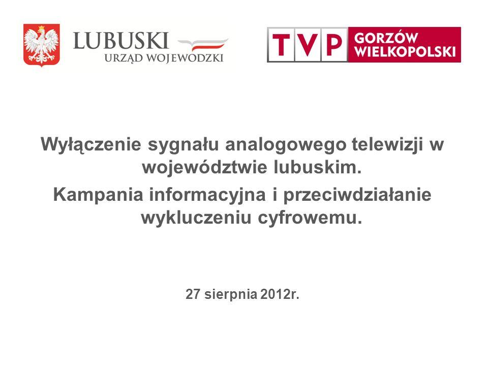 Wyłączenie sygnału analogowego telewizji w województwie lubuskim.
