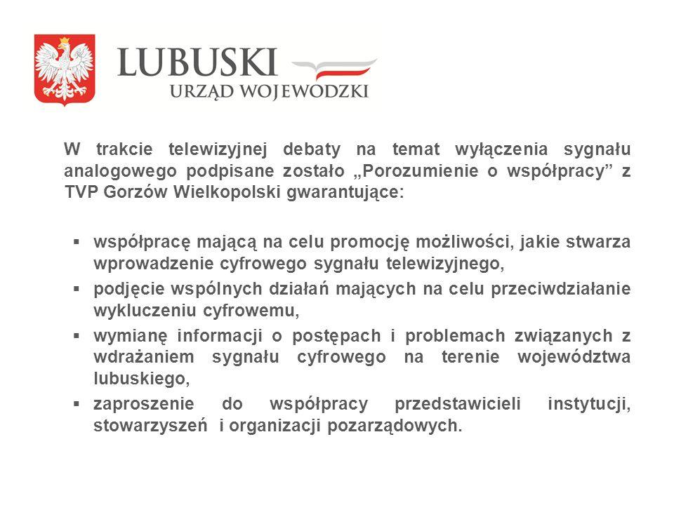 Podmioty odpowiedzialne i partnerzy Wojewoda Lubuski TVP S.A.