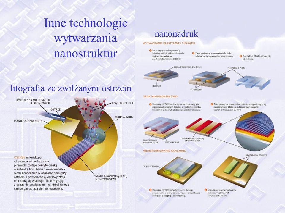 Inne technologie wytwarzania nanostruktur nanonadruk litografia ze zwilżanym ostrzem