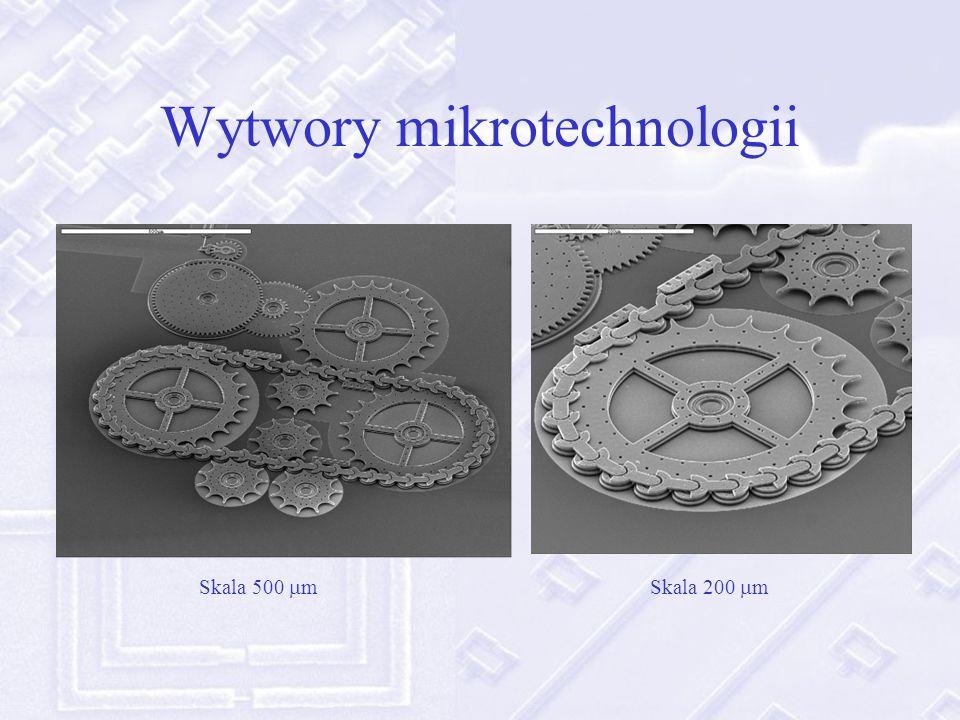 Skala 100 mSkala 10 m Klasyczna fotolitografia na krzemie