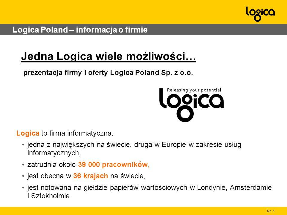Nr. 1 Logica Poland – informacja o firmie Logica to firma informatyczna: jedna z największych na świecie, druga w Europie w zakresie usług informatycz