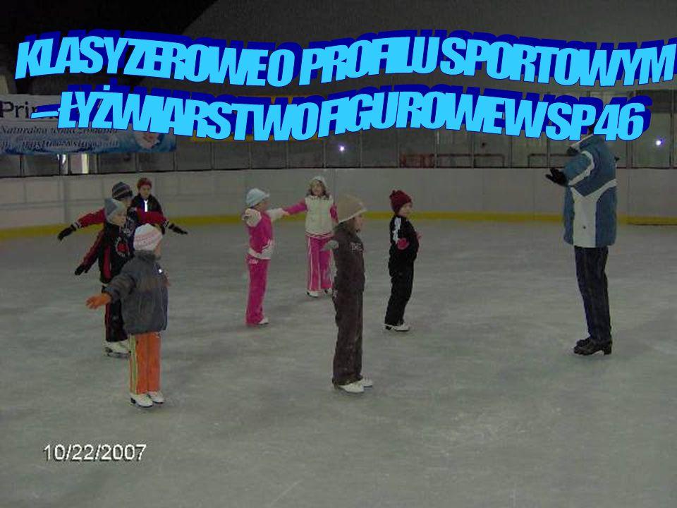 Szkoła ogłasza nabór dzieci do sportowej klasy zerowej na rok szkolny 2008/2009 Zajęcia programowe prowadzą doświadczeni nauczyciele i trenerzy Zapewniamy : - zajęcia dydaktyczne w szkole - zajęcia na lodowisku - zajęcia rytmiczno-baletowe - nauka jez.