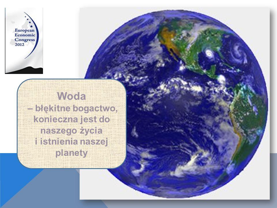 Woda – błękitne bogactwo, konieczna jest do naszego życia i istnienia naszej planety