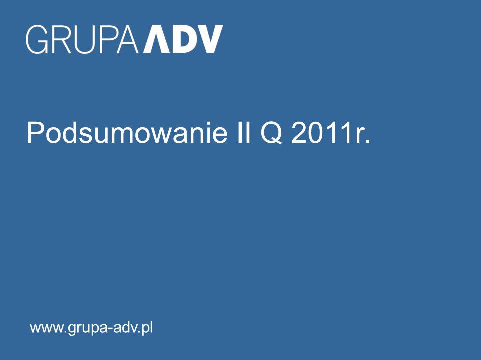 Podsumowanie II Q 2011r. www.grupa-adv.pl