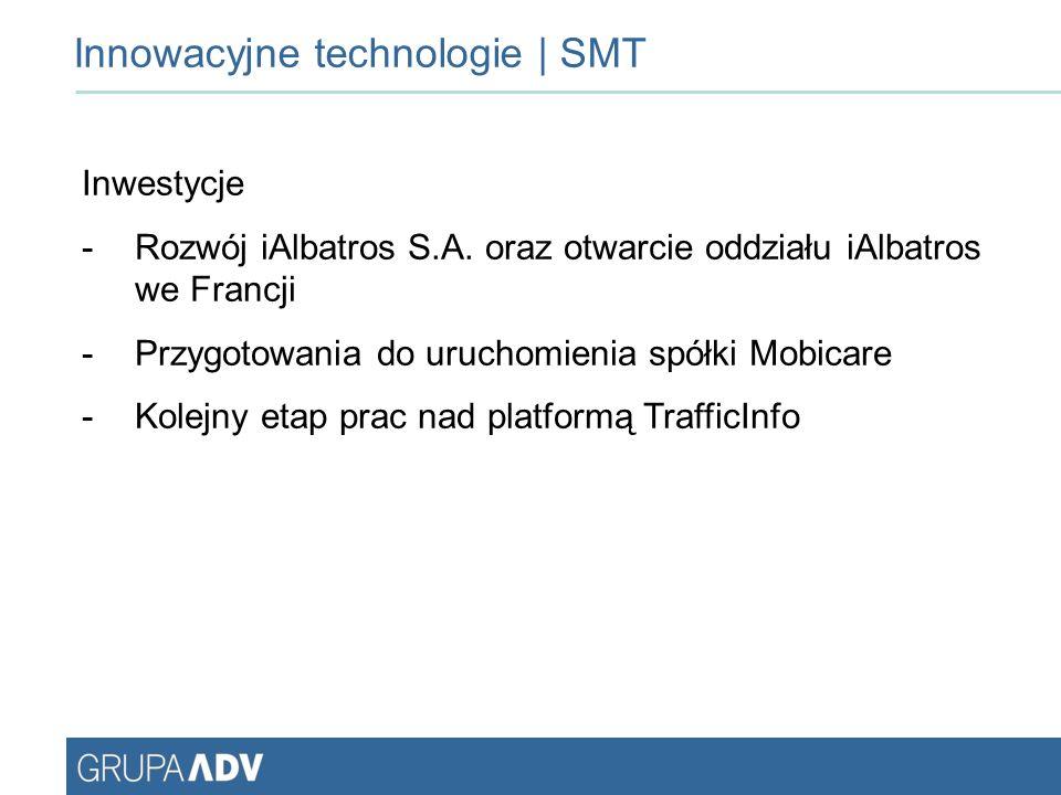 Innowacyjne technologie | SMT Inwestycje -Rozwój iAlbatros S.A.