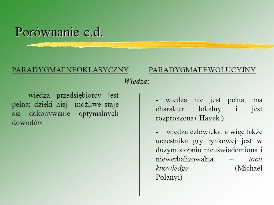 Porównanie c.d.