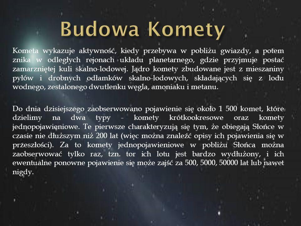 Kometa wykazuje aktywność, kiedy przebywa w pobliżu gwiazdy, a potem znika w odległych rejonach układu planetarnego, gdzie przyjmuje postać zamarznięt