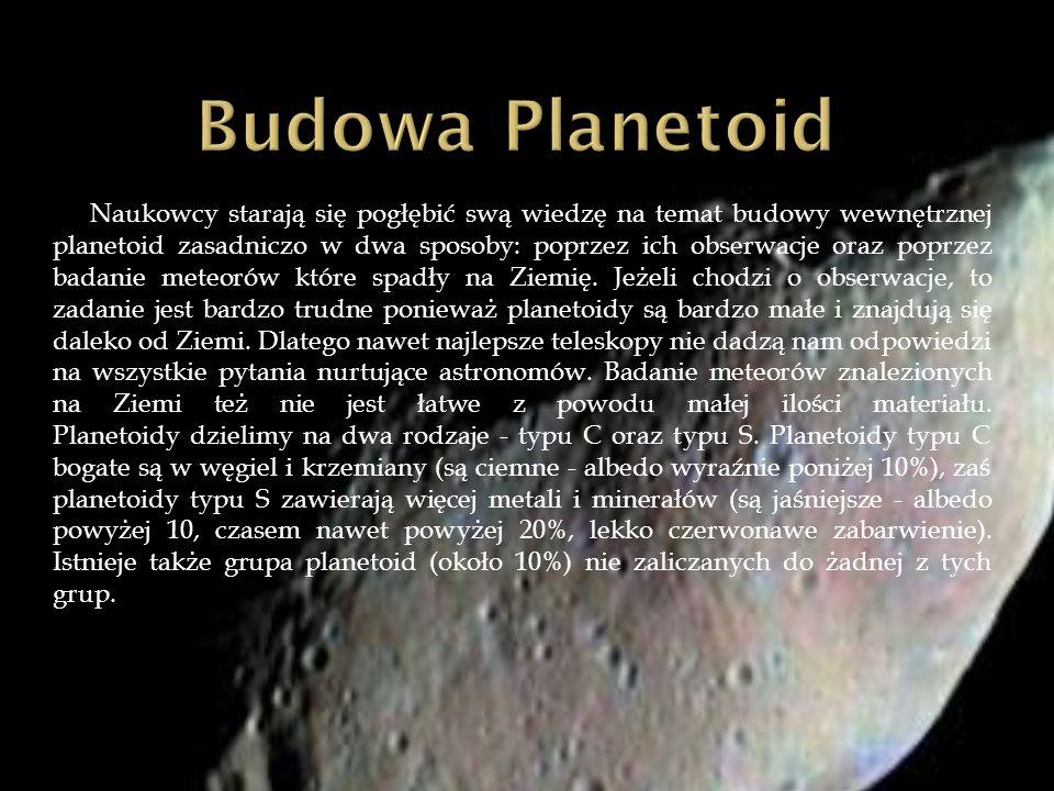 Naukowcy starają się pogłębić swą wiedzę na temat budowy wewnętrznej planetoid zasadniczo w dwa sposoby: poprzez ich obserwacje oraz poprzez badanie m