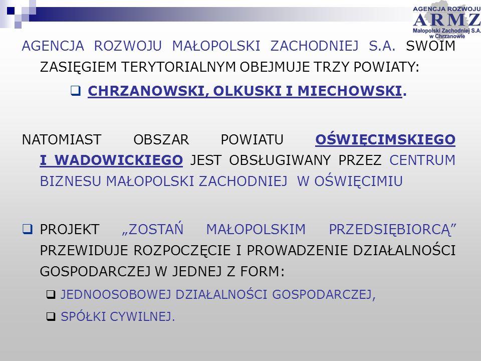 AGENCJA ROZWOJU MAŁOPOLSKI ZACHODNIEJ S.A.