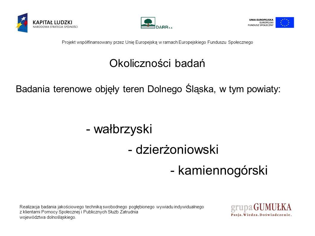 Realizacja badania jakościowego techniką swobodnego pogłębionego wywiadu indywidualnego z klientami Pomocy Społecznej i Publicznych Służb Zatrudnia województwa dolnośląskiego.