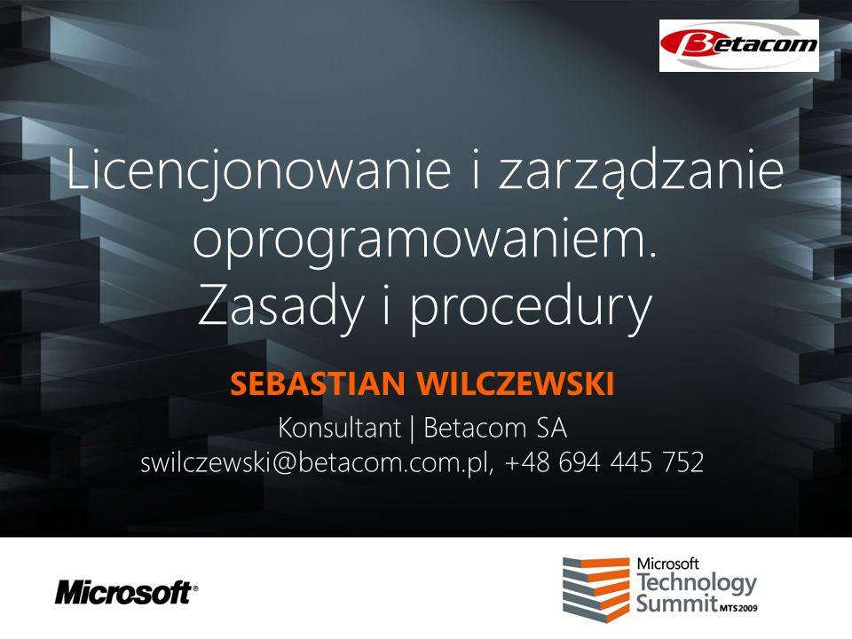 Agenda Wirtualizacja Windows Vista Enterprise Centralized Desktop (VCED) Dual Core, Quad Core SQL Enterprise vs Standard Enterprise CAL Tanie wdrożenie SCCMa