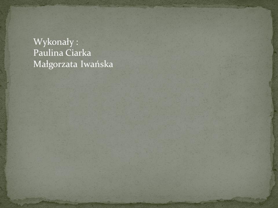 Wykonały : Paulina Ciarka Małgorzata Iwańska