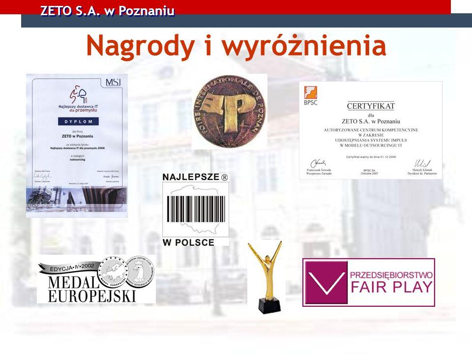 ZETO S.A. w Poznaniu Nagrody i wyróżnienia