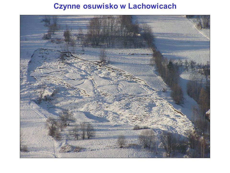Czynne osuwisko w Lachowicach