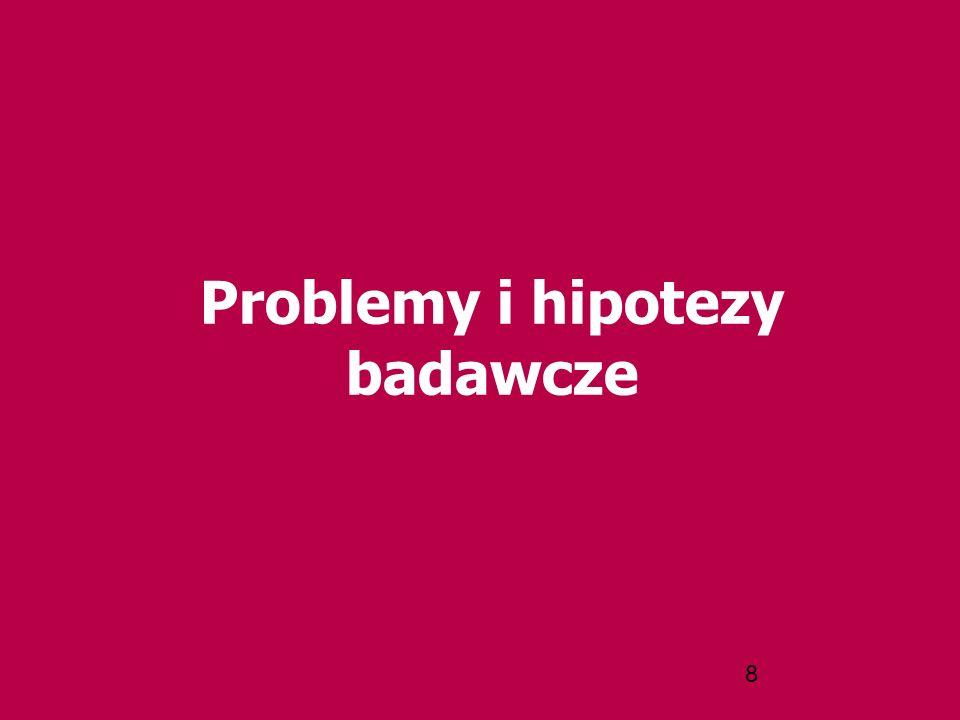 8 Problemy i hipotezy badawcze