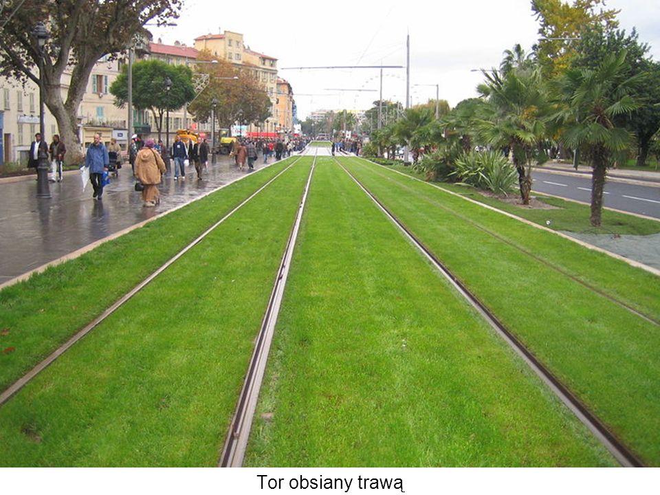 Tor obsiany trawą