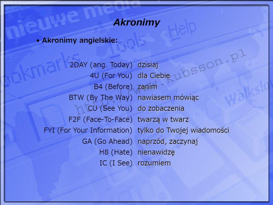 Akronimy ATSD a tak swoją drogą ChOTP chcesz o tym porozmawiać.