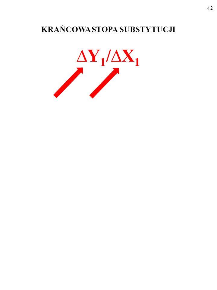 41 KRAŃCOWA STOPA SUBSTYTUCJI Y 1 /X 1